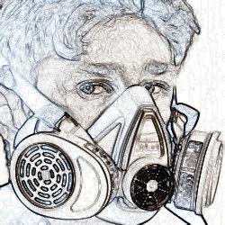 Отсутствие СИЗ органов дыхания при осуществлении работ
